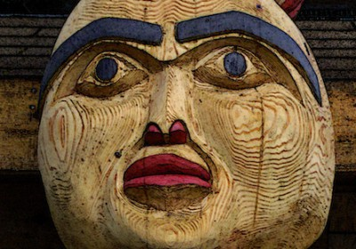 Saunders Totem Pole Detail