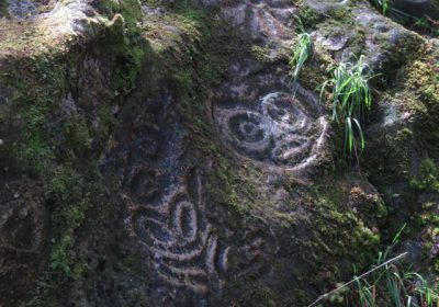 Petroglyphs in Bella Coola
