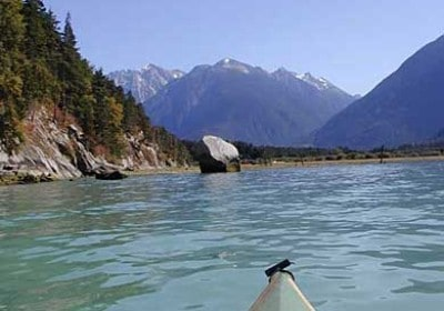 paddlers, bc, kayak, great bear rainforest, paradise