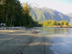 on the Bella Coola River