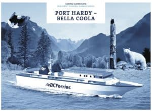 BC Ferries direct sailing to Bella Coola